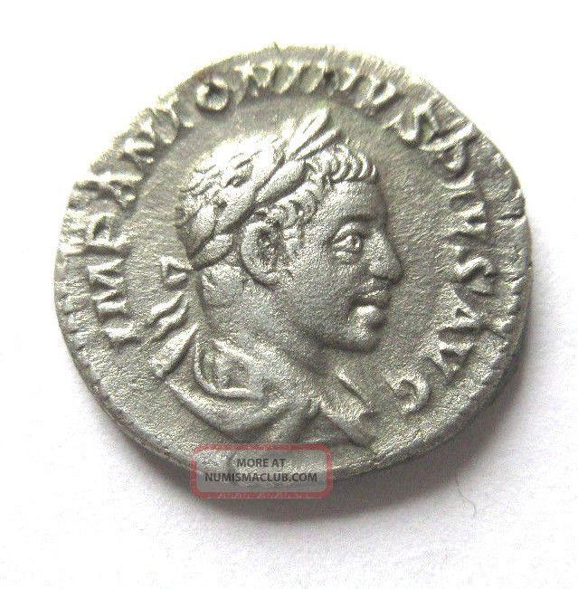 Denar Of Elagabalus Rv.  Providentia Standing Left Coins: Ancient photo