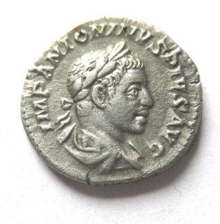 Denar Of Elagabalus Rv.  Providentia Standing Left photo