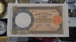 1926 Lire 50 Italy Banca D ' Italia photo