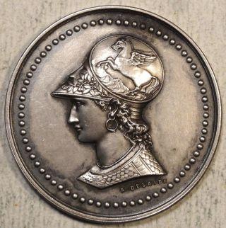 Silvered Medallion,  Association Philotechnique De Courbevoie,  Pairs,  1901 photo