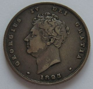 1825 Silver 1 Shilling George Iv Great Britain England British Empire photo