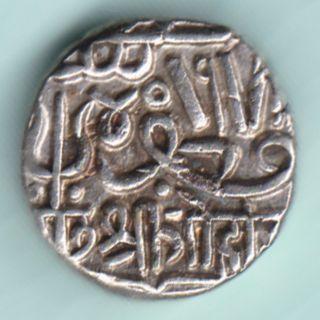 Kutch Bhuj State - Shree Gohadji - One Kori - Extremely Rarest Silver Coin photo