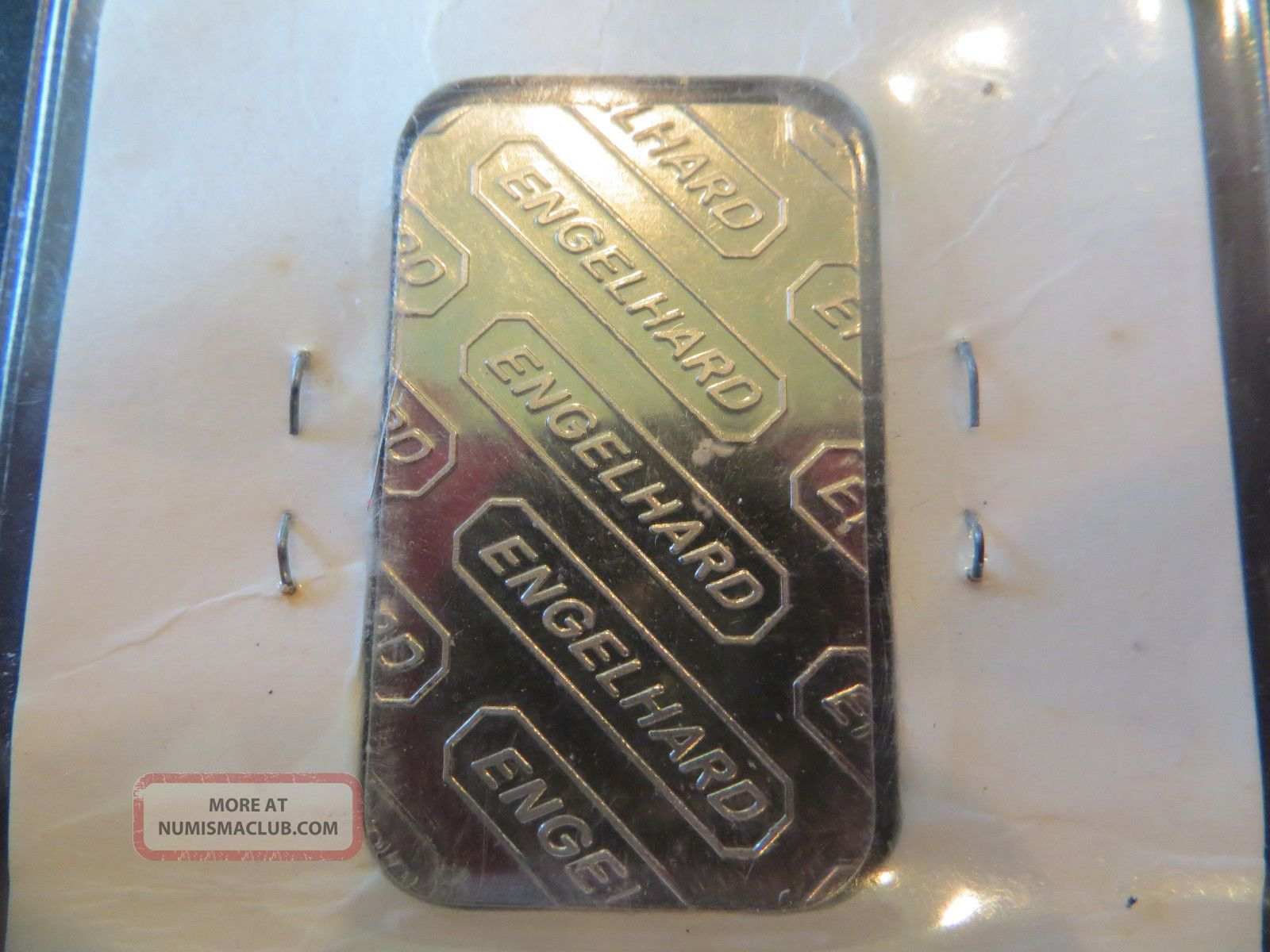1 Troy Oz Engelhard Palladium Bar 9995 Fine In Assay Card