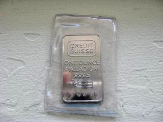 1 Oz Credit Suisse Palladium Bar In Plastic Sleeve photo