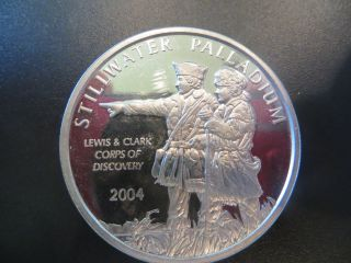 2004 Stillwater Palladium Lewis & Clark 1 Troy Oz Palladium Coin photo