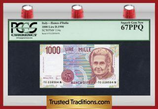 Tt Pk 114c 1990 Italy 1000 Lire