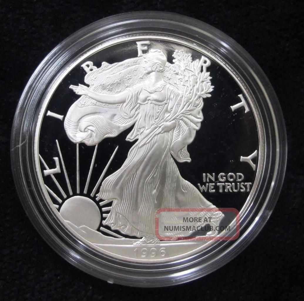 1996 American Silver Eagle Proof And Great Gift Silver photo