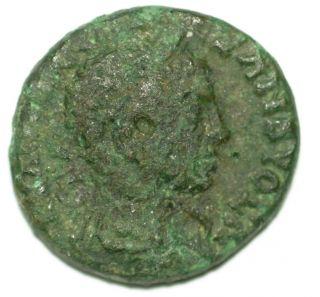 Roman Provincial Bronze Coin Alexander Severus Nicaea In Bithynia Ae18 photo