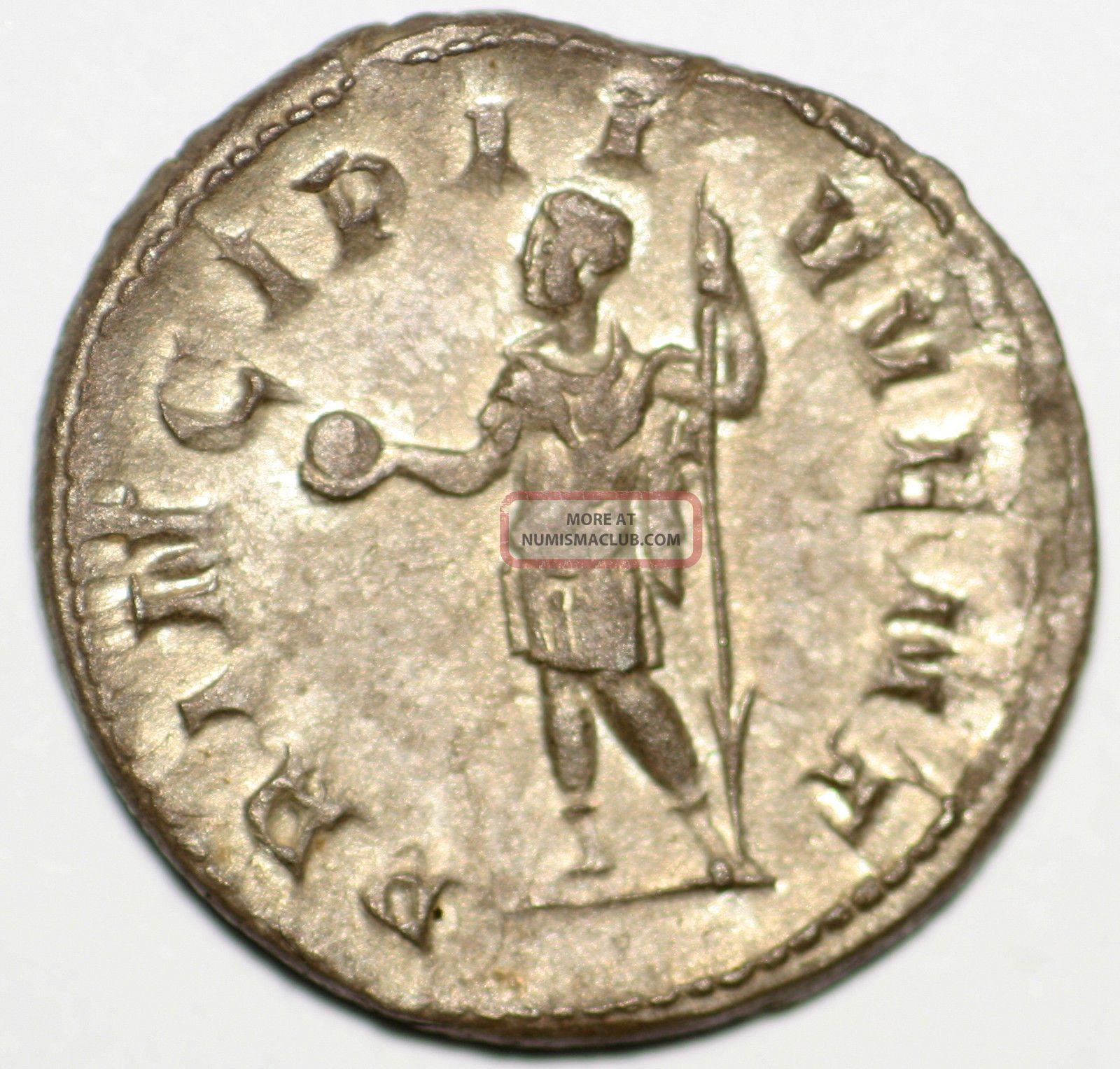 Roman Silver Coin Antoninianus Philip Ii Principi Iuvent 22 M 1,  92 Gr Coins: Ancient photo