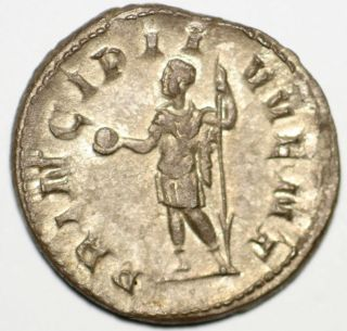 Roman Silver Coin Antoninianus Philip Ii Principi Iuvent 22 M 1,  92 Gr photo