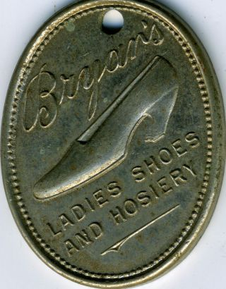 Vintage Charge Coin From Bryar ' S Ladies Shoes And Hosiery Ca 1940s Rare photo