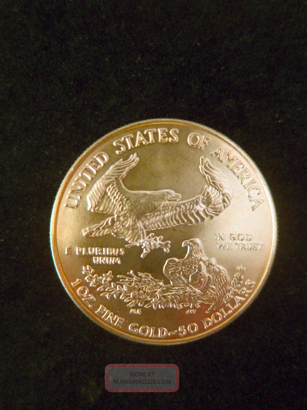1 Oz.  Gold Bullion One Troy Ounce.  American Gold Eagle Fine Coin Silver photo