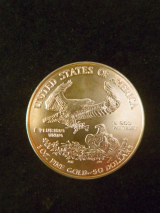 1 Oz.  Gold Bullion One Troy Ounce.  American Gold Eagle Fine Coin photo