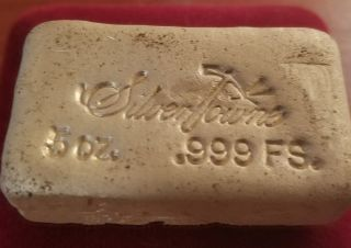 5oz Silver Towne Fine Silver.  999 Hand Poured Bar photo
