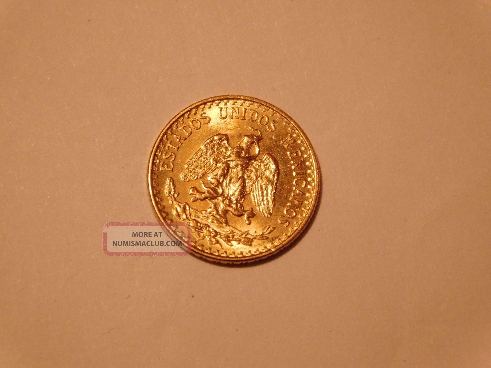 1945 Dos Peso Gold Coin Mexico Gold photo