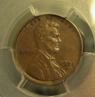 1921 - S Pcgs Au 58 Lincoln Wheat Cent,  Brown,  Listed At $100.  00 photo