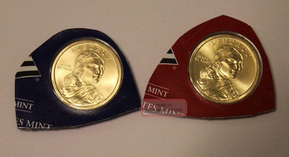 2010 - P & D $1 Native American Sacagawea Dollars In Cello Dollars photo