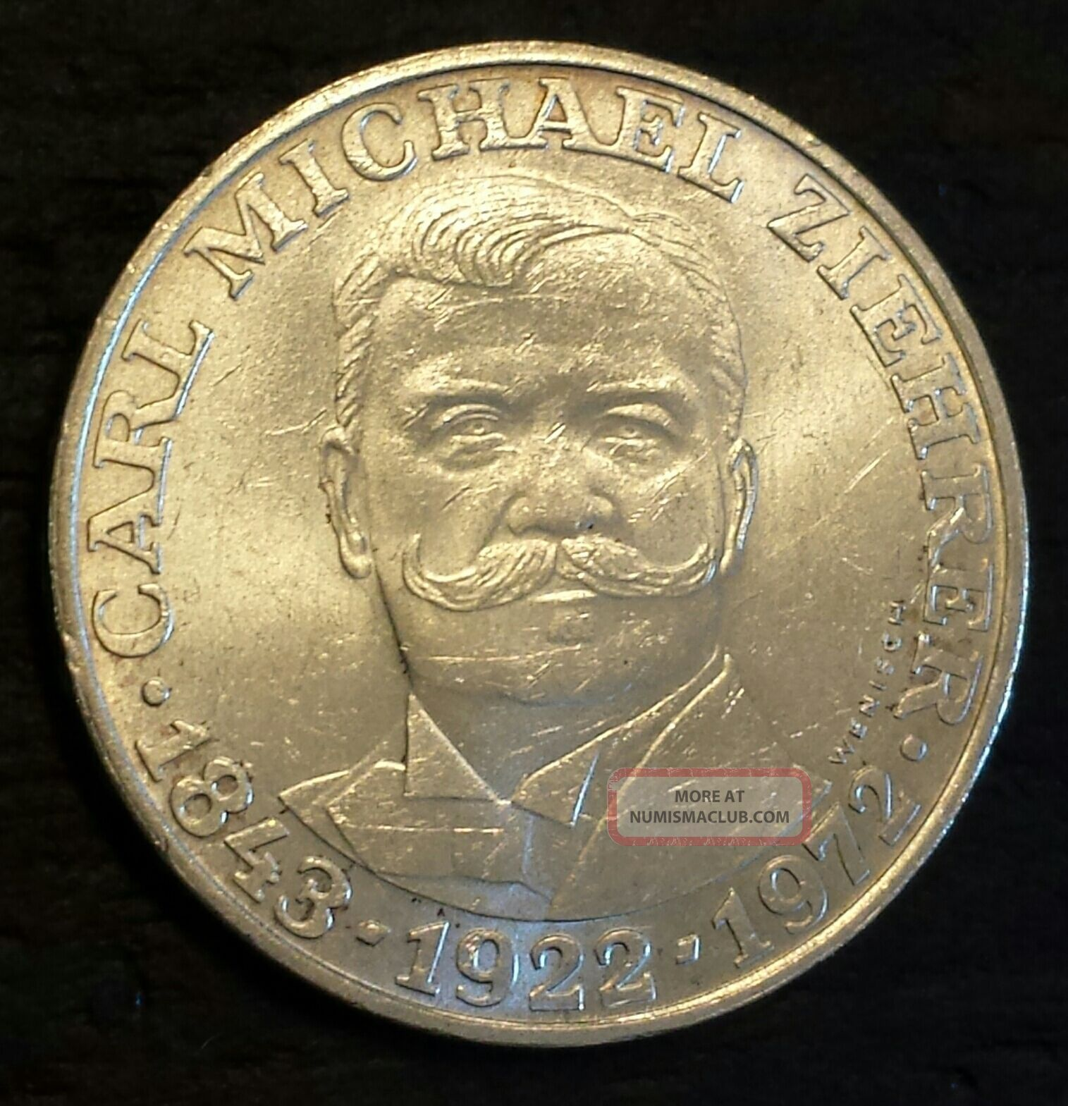 Austria 25 Schilling,  1972,  50th Anniversary - Death Of Carl M.  Ziehrer,  Compose Other Coins of the World photo