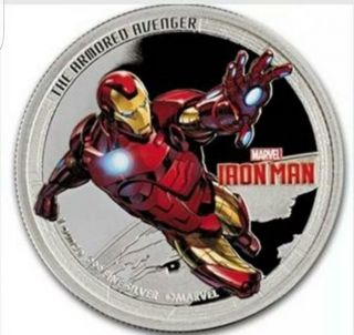 2014 Ironman Colorized 1 Oz Silver Clad Proof Coin Round Medallion In Capsule photo