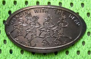 Dancin ' With The Dead Elongated Penny Usa Cent Dia De Los Muertos Souvenir Coin photo