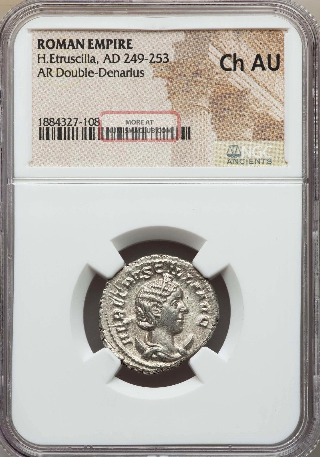 Herennia Etruscilla Ad 249 - 253 Bi Antoninianus Rome Ngc Choice Au Coins: Ancient photo