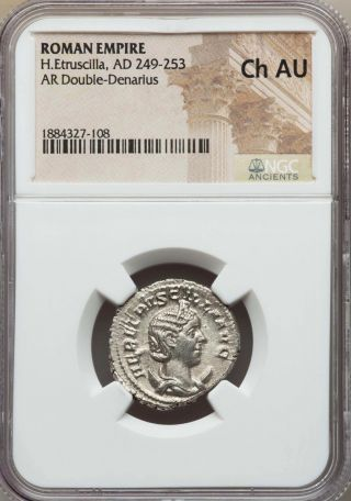 Herennia Etruscilla Ad 249 - 253 Bi Antoninianus Rome Ngc Choice Au photo