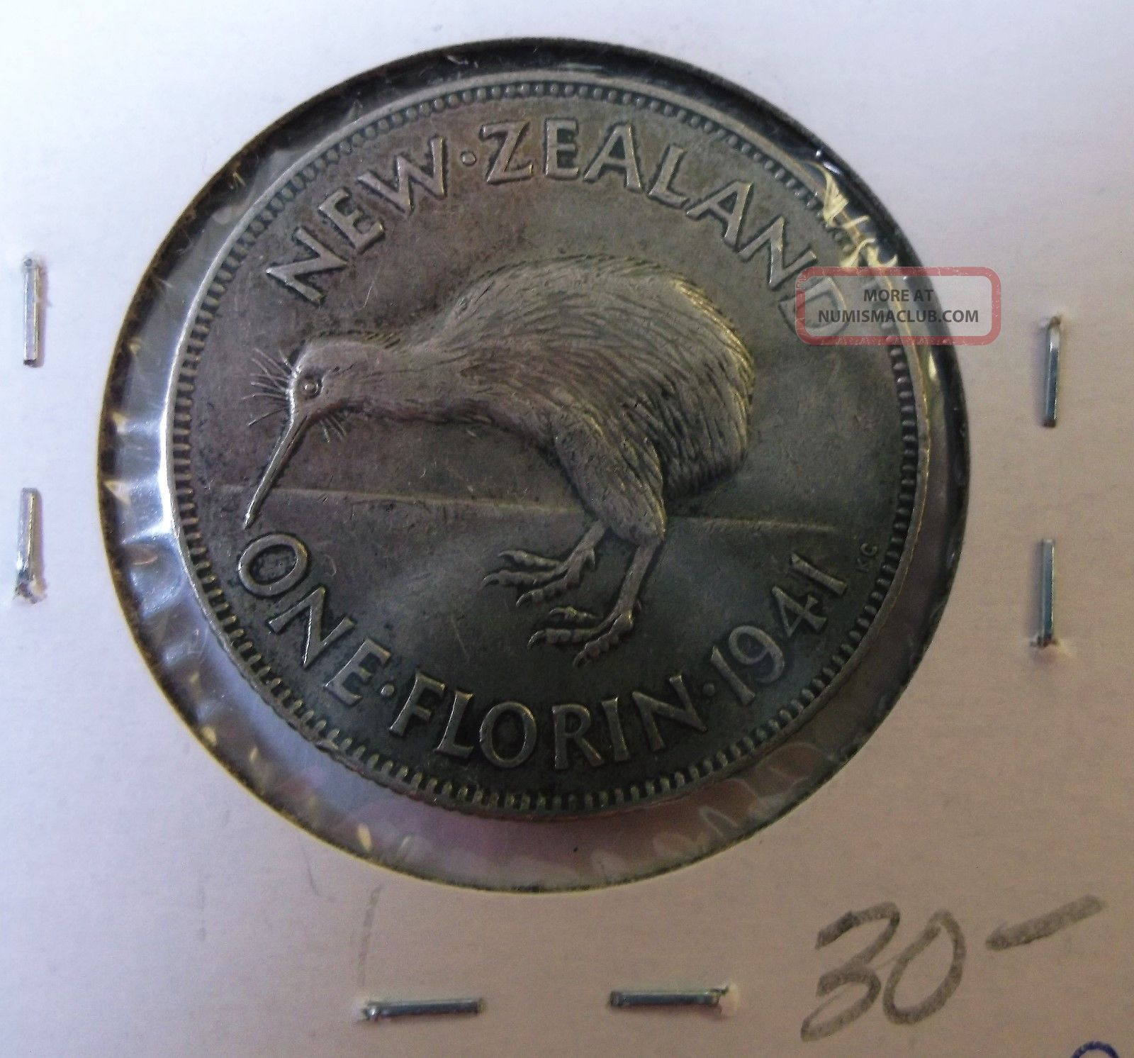 1941 Zealand 1 - Florin Silver New Zealand photo