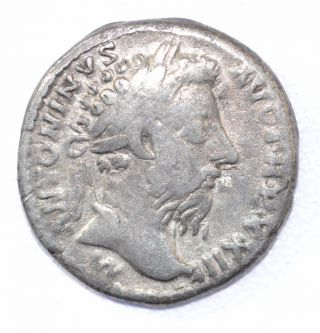 Authentic Marcus Aurelius,  Silver Denarius,  Roman Coin,  Rv.  Salus - A899 photo