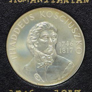 1746 - 1817 Thaddeus Kosciuszko Humanitarian Heraldic Art Medal (cn3217) photo