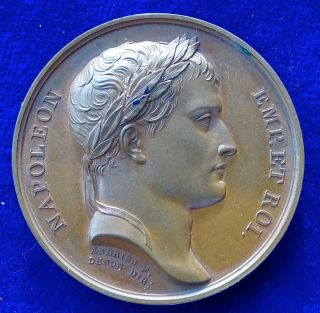 Napoleonic Bronze Medal 1806 Foundation Of The Confederation Of The Rhine. photo