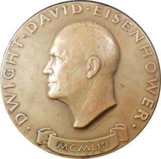Official 1953 Eisenhower Bronze Inaugural Medal By Walker Hancock,  Maco photo