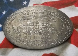 Georgia Token Assn Elongated Nickel Not Penny Smyrna Ga Usa Cent Souvenir Coin photo