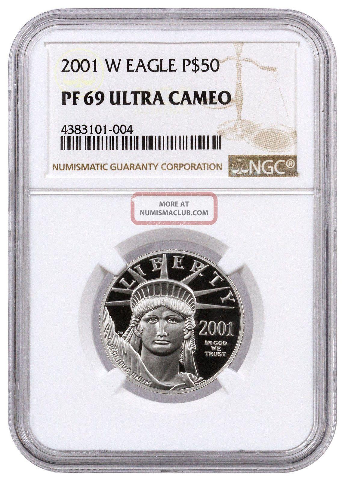 2001 - W $50 1/2 Oz Proof Platinum Eagle Ngc Pf69 Uc Sku17065 Platinum photo