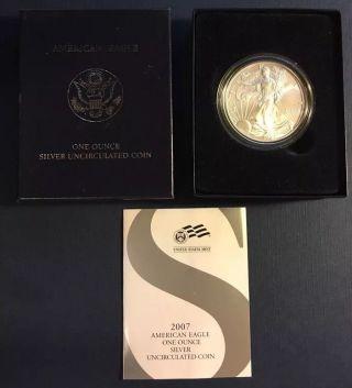 2007 - W American Silver Eagle