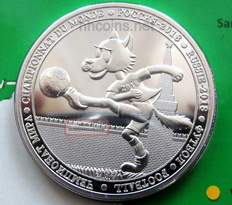 Burkina Faso 2017 100 Francs Cfa,  Football 2018 Fifa World Cup Russia Coin Cover Africa photo