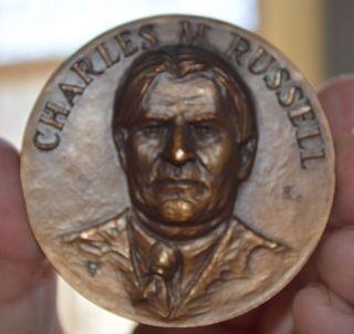 Scarce Charlie Russell Centenial 1864 - 1964 Cowboy Artist 2 1/2