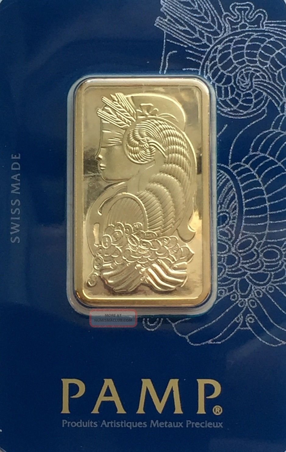 1 Oz Gold Bar Pamp Suisse 999.  9 In Assay Veriscan Hallographic Package Bars & Rounds photo