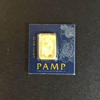 1 Gram Gold Bar -.  9999 - Pamp Suisse Lady Fortuna photo