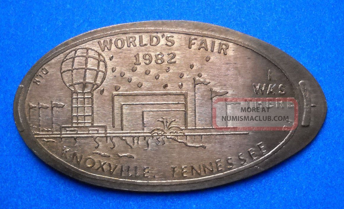 World ' S Fair Elongated Penny Knoxville Tennessee Usa Cent 1982 Souvenir Coin Exonumia photo