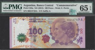 Rqn - Cac Pick 358a Argentina Banco Cen