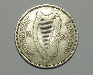 Ireland : Irish Shilling 1937.  Silver.  Key Date photo