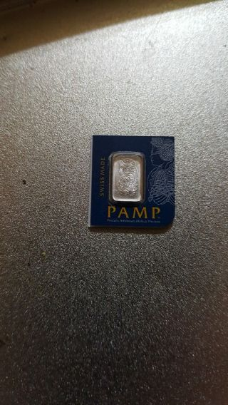 1 Gram Pamp Suisse Platinum Bar (in Assay).  9995 Fine photo