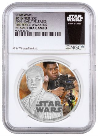 2016 Niue $2 1 Oz.  Silver Star Wars Force Awakens - Finn Ngc Pf69 Uc Er Sku42748 photo