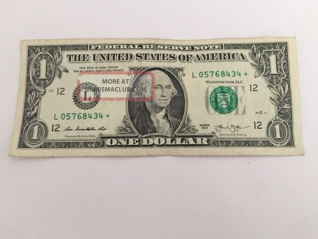 $1 Federal Reserve Star Note Small Size Notes photo