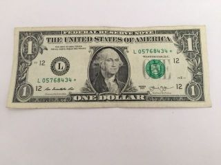 $1 Federal Reserve Star Note photo