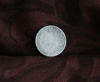 Ireland 1813 10 Pence Silver World Coin Irish Bank Token George Iii Ire B photo