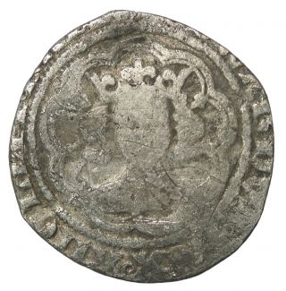 Medieval Edward Iii 1327 - 1377 Ad London England Ar Silver Half Groat photo