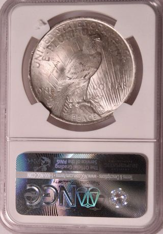 1923 Silver Peace Dollar Ngc Ms 64 Almost As Good As It Gets photo