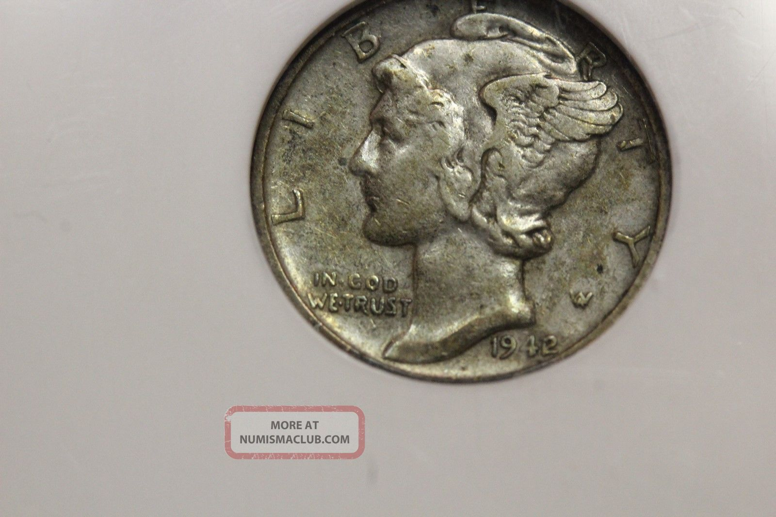 1942/41 Dime Vf35 Ngc,  Mercury 10c (1688) Mercury (1916-45) photo