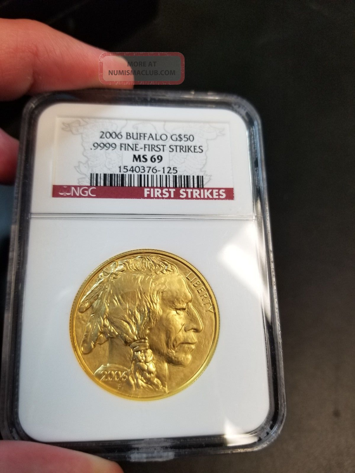 2006 $50 Gold Buffalo Ngc Ms69 First Strike - Only Year Gold photo